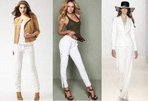 З чим носити білі штани  fff757e3d2503